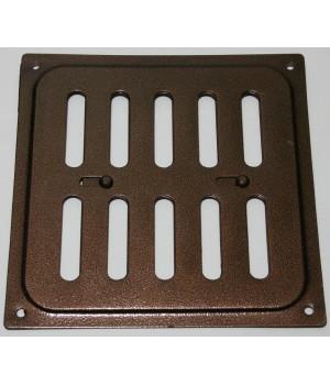 Металлическая решетка с задвижкой 16х16 Медь