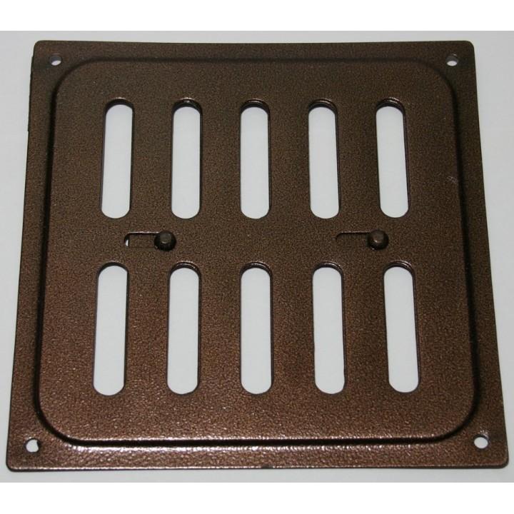 Металлическая решетка с задвижкой 20х20 Медь