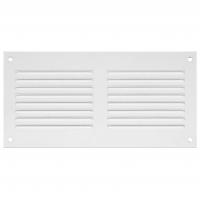 Решетка вентиляционная металлическая Europlast MR 5010 500х100 Белый