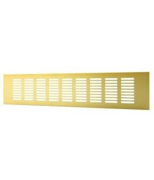 Решетка вентиляционная алюминиевая  Europlast RA1050G 100х500 Золото