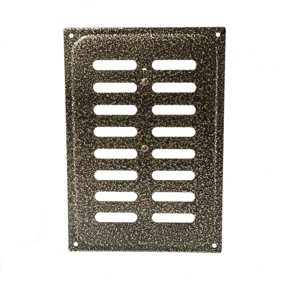 Решетка металлическая с задвижкой Ванвент 16х24 Антик бронза