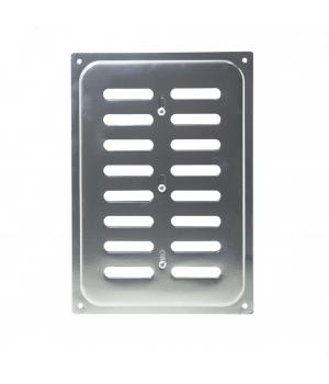 Решетка металлическая с задвижкой Ванвент 16х24 Хром