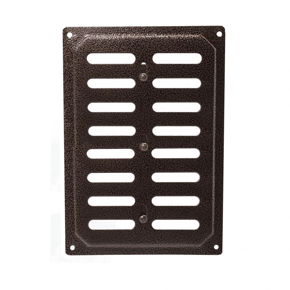 Решетка металлическая с задвижкой Ванвент 16х24 Антик медь