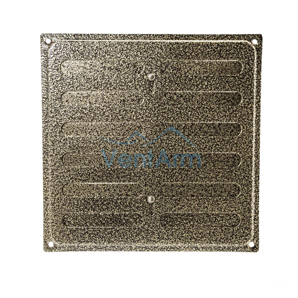 Решетка металлическая с задвижкой Ванвент 20х20 Антик бронза