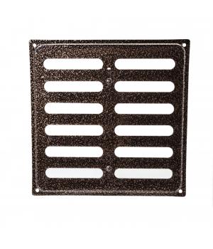 Решетка металлическая с задвижкой Ванвент 20х20 Антик медь