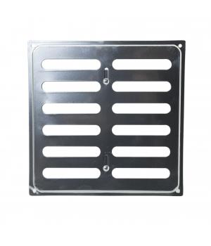 Решетка металлическая с задвижкой Ванвент 20х20 Хром