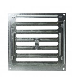 Решетка металлическая с ручкой Ванвент  20х20 Оцинкованный