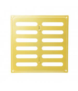 Решетка металлическая с задвижкой Ванвент 20х20 Золото