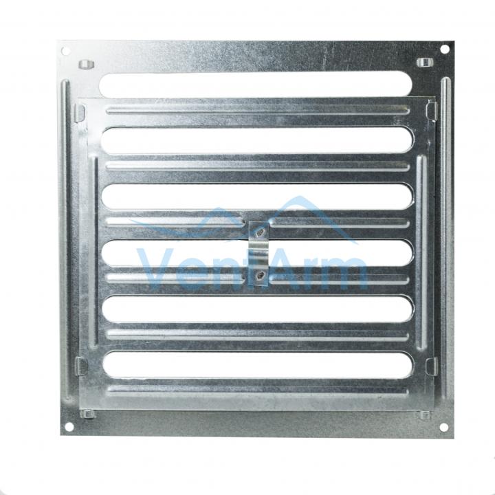 Решетка металлическая с ручкой Ванвент 25х25 Оцинкованный