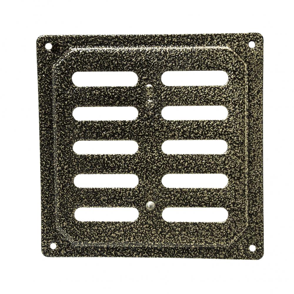 Решетка металлическая с задвижкой Ванвент 16х16 Антик бронза