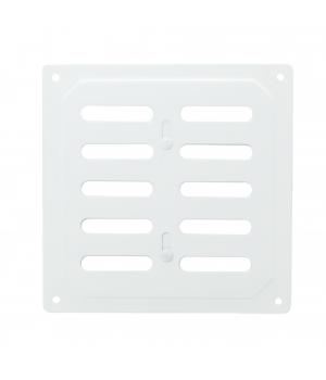 Решетка металлическая с задвижкой Ванвент 16х16 Белый