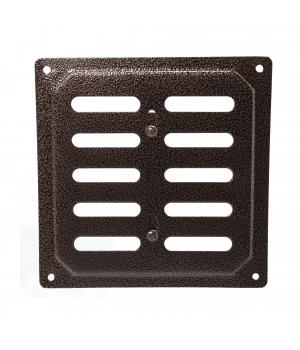 Решетка металлическая с задвижкой Ванвент 16х16 Антик медь