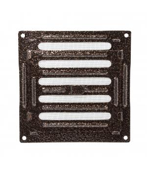 Решетка металлическая с ручкой Ванвент  16х16 Антик медь