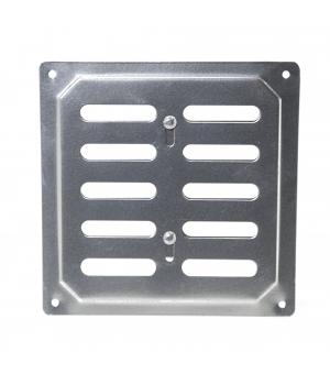 Решетка металлическая с задвижкой Ванвент 16х16 Хром