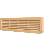 Вентиляционная решетка переточная  450х131 Бежевый (комплект 2шт)