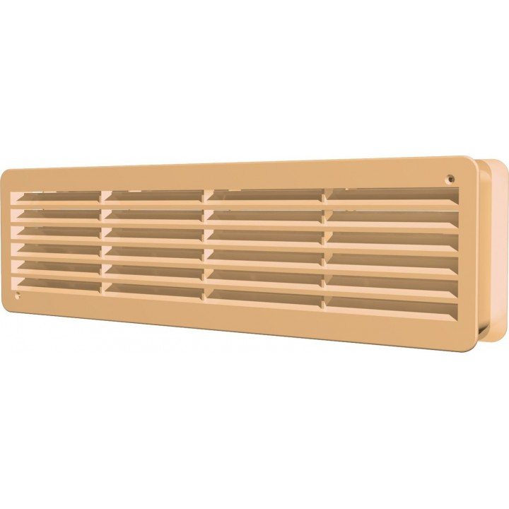 Вентиляционная решетка переточная  450х91 Бежевый (комплект 2шт)
