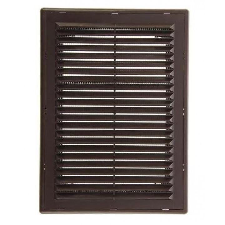 Вентиляционная пластиковая решетка 180х250 Коричневый