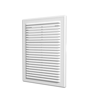 Решетка вентиляционная пластиковая Era 1825Р 180х250 Белый
