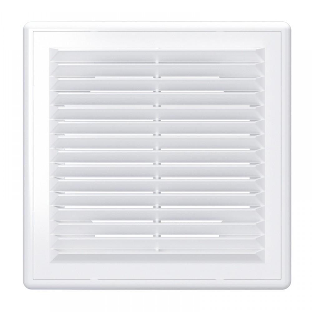 Решетка вентиляционная пластиковая Era 1515Р 150х150 Белый