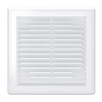 Вентиляционная пластиковая решетка 210х210 Белый