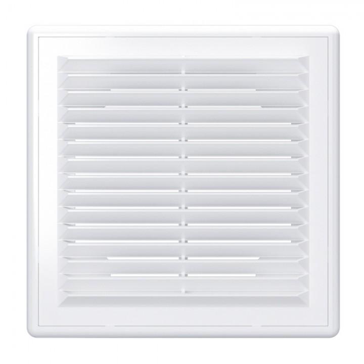 Вентиляционная пластиковая решетка 250х250 Белый