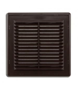 Решетка вентиляционная пластиковая Era 1515Р 150х150 Коричневый