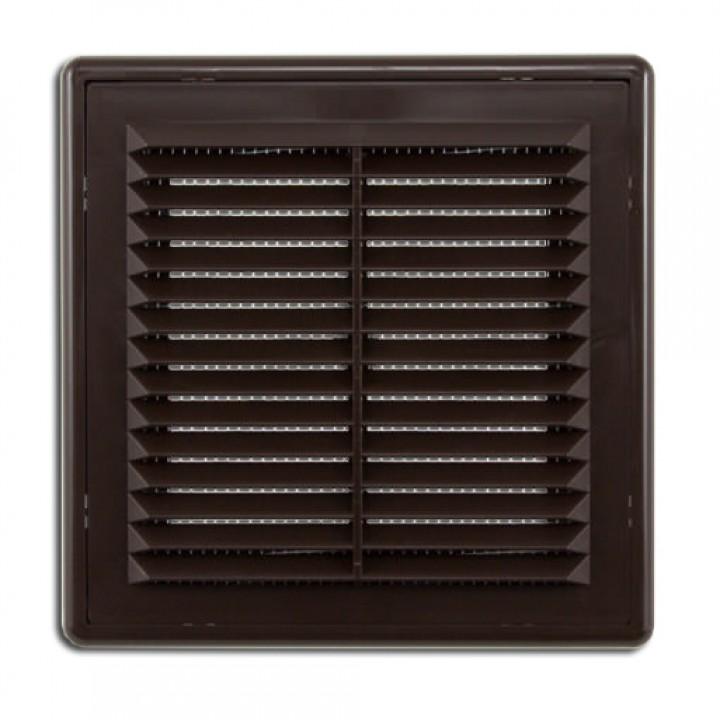 Решетка вентиляционная пластиковая Era 2525Р 250х250 Коричневый