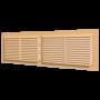 Вентиляционная решётка переточная разъёмная с фланцем 455х133 Бежевый