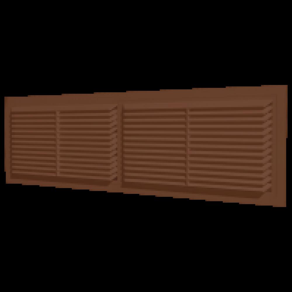 Решетка вентиляционная пластиковая Era 4513РП 455х133 Коричневый