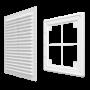 Решетка вентиляционная пластиковая Era 1825Р 180х250 Коричневый