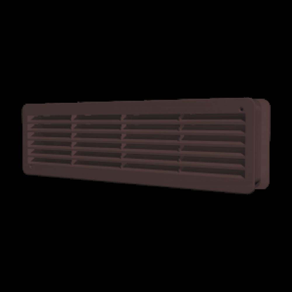 Решетка вентиляционная пластиковая Era 4409ДП 450х91 Коричневый