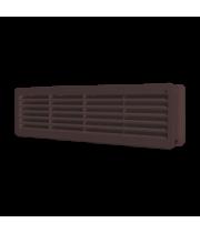 Вентиляционная решетка переточная  450х131 Коричневый (комплект 2шт)