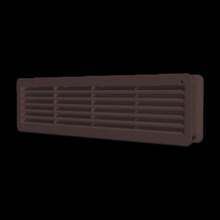 Вентиляционная решетка переточная  450х91 Коричневый (комплект 2шт)