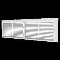 Вентиляционная решётка переточная разъёмная с фланцем 455х133 Белый