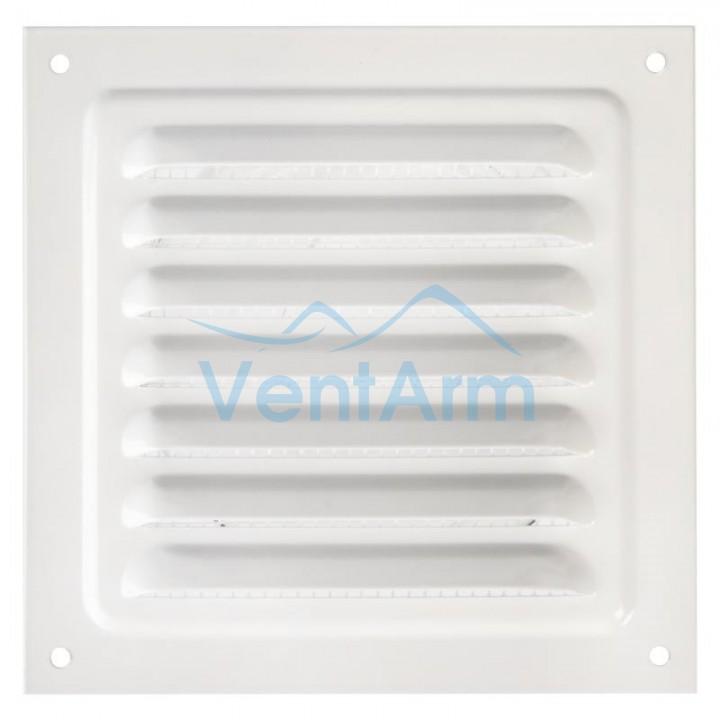 Решетка металлическая с сеткой Vents MBM 250х250 Белый