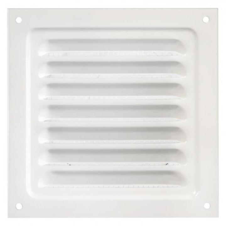 Металлическая решетка с сеткой МВМ 125х125 Белый