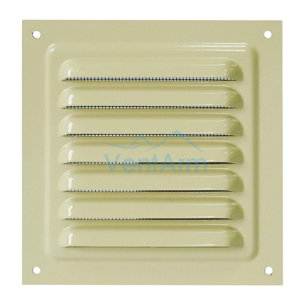 Решетка металлическая с сеткой Vents MBM 200х200 Бежевый