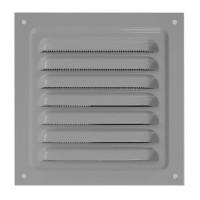 Металлическая решетка с сеткой МВМ 300х300 Серый