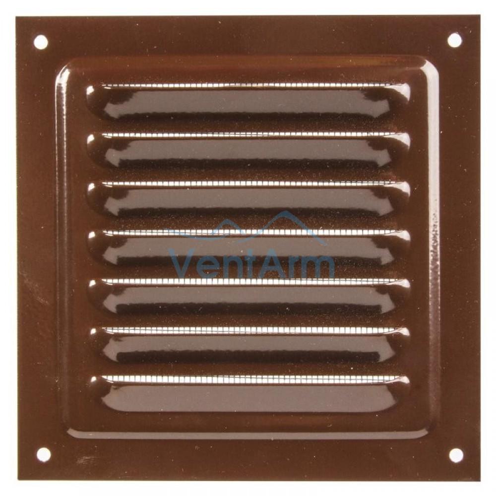 Решетка металлическая с сеткой Vents MBM 150х150 Коричневый