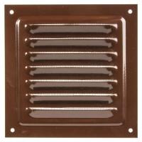 Решетка металлическая с сеткой Vents MBM 300х300 Коричневый