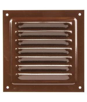 Решетка металлическая с сеткой Vents MBM 250х250 Коричневый