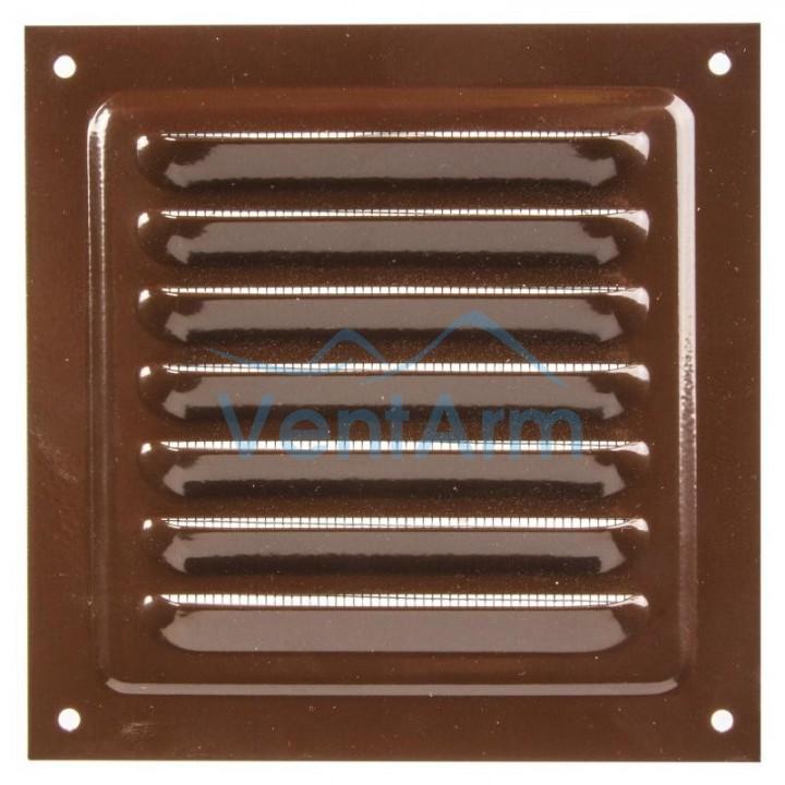 Решетка металлическая с сеткой Vents MBM 200х200 Коричневый