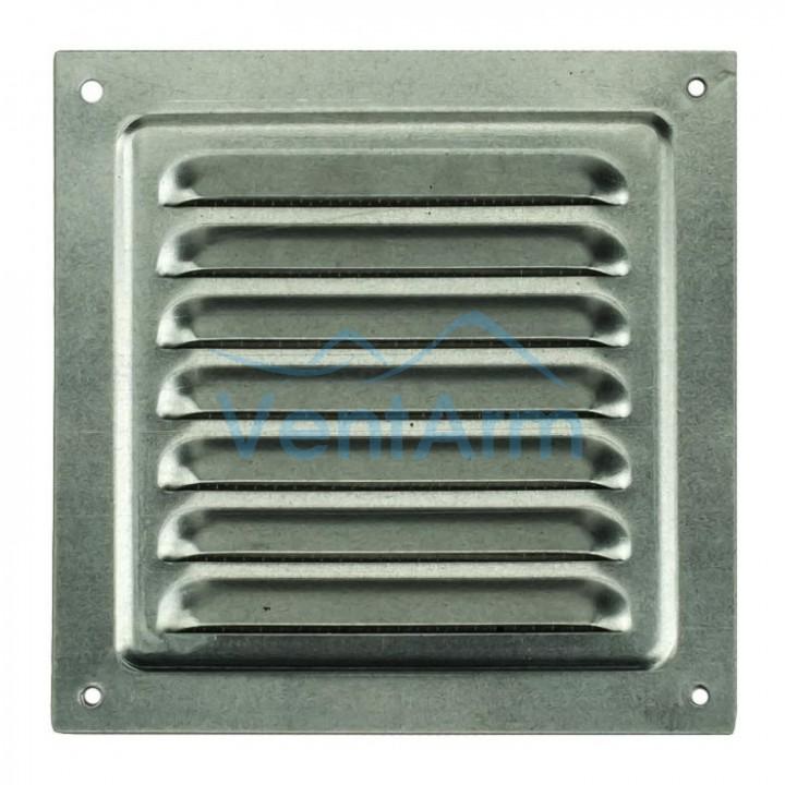Решетка металлическая с сеткой Vents MBM 300х300 Оцинкованный