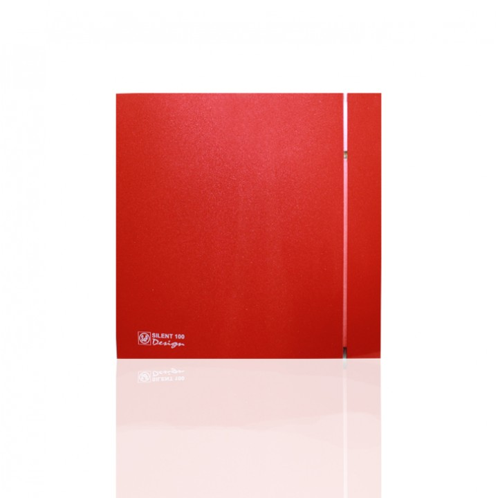 (Soler & Palau) Вентилятор накладной SILENT-100 CRZ RED DESIGN-4C c Таймером