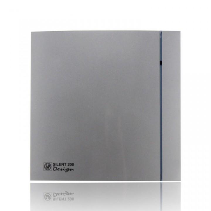 (Soler & Palau) Вентилятор накладной SILENT-200 CRZ SILVER DESIGN-3C c Таймером