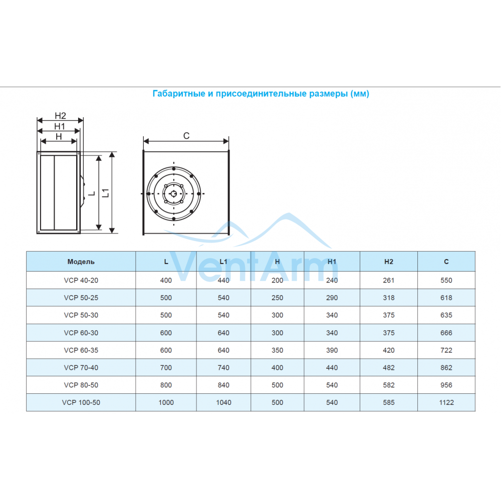Вентилятор канальный РОВЕН VCP 100-50/45-GQ/8D
