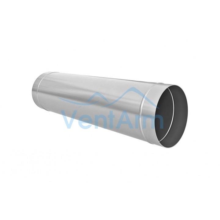 Воздуховод круглый прямошовный 100мм 1м из оцинкованной стали