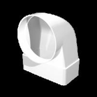 Соединительное колено 90° для плоских и круглых каналов 60х204-Ø160