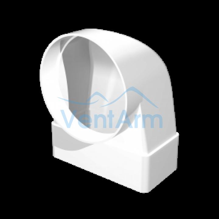 Соединительное колено 90° для плоских и круглых каналов Эра 620СК16КП 60х204/160