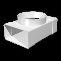 Тройник для плоских и круглых каналов 60x204-Ø125